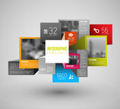 Vector squares and cubes illustration / infographic Royalty Free Stock Images