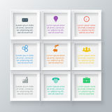 Vector squares for infographic. Royalty Free Stock Photography