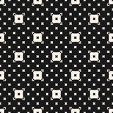 Vector squares pattern. Simple minimalist abstract background. With big and small square shapes. Monochrome geometric texture, repeat tiles. Dark perforated Stock Images