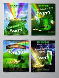 Vector St. Patrick s Day poster design template stock illustration