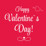 Vector St Valentine day's greeting card. This is file of EPS10 format Royalty Free Stock Photos