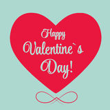 Vector St Valentine day's greeting card Stock Images