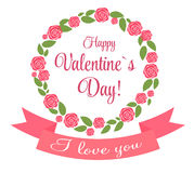 Vector St Valentine day's greeting card. This is file of EPS10 format Stock Photo