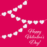 Vector St Valentine Day`s Greeting. Card in Retro Style Design Royalty Free Stock Photos