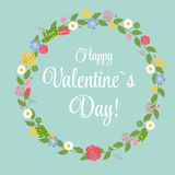 Vector St Valentine Day's Greeting Card in Retro Royalty Free Stock Images