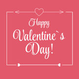 Vector St Valentine Day's Greeting Card in Retro Stock Images