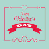Vector St Valentine Day's Greeting Card in Retro Stock Photos