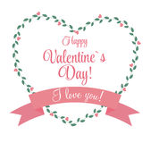 Vector St Valentine Day's Greeting Card in Retro Royalty Free Stock Photography