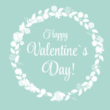 Vector St Valentine Day's Greeting Card in Retro Royalty Free Stock Photos