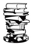 Vector stack of books. Wall-stickers in the form of stack of books Stock Images