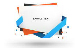 Vector with a stack of paper held together. Vector of paper heap together Royalty Free Stock Images