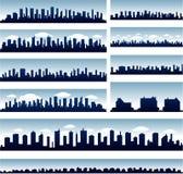 Vector stadshorizonnen Royalty-vrije Stock Afbeelding