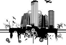 Vector stadsillustratie Royalty-vrije Stock Afbeelding
