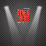 Vector Stage Light Effect. EPS10 Bright Stage Light Illuminating Stock Photo