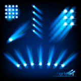 Vector Stage Lights Stock Photography