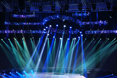 Vector Stage Spotlight. With Laser rays Stock Image