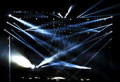 Vector Stage Spotlight. With Laser rays Stock Photography