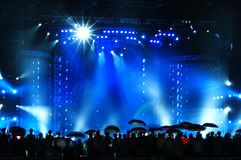 Vector Stage Spotlight. With Laser rays Royalty Free Stock Images