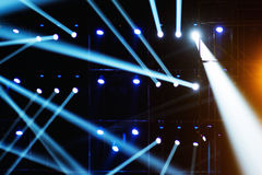 Vector Stage Spotlight. With Laser rays Royalty Free Stock Photo
