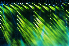Vector Stage Spotlight with Laser rays in the night Royalty Free Stock Image