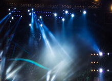 Vector Stage Spotlight with Laser rays in the night Stock Photography