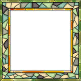 Vector Stained-glass Window Frame For Photography. Royalty Free Stock Image