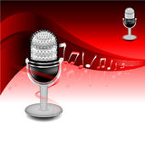 Vector Stainless Microphone Royalty Free Stock Photography
