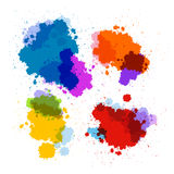 Vector Stains, Blots, Splashes Set Royalty Free Stock Photos