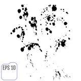 Vector Stains, Blots, Splashes Set. Ink splats Stock Image
