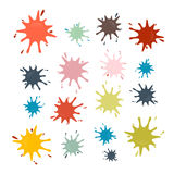 Vector Stains, Splashes, Blots Stock Photos