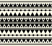 Vector Stammen Zwart-witte Etnische Patroonillustratie Stock Fotografie