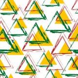 Vector Stammes- angesporntes nahtloses geometrisches Muster mit Dreiecken Lizenzfreies Stockbild