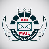 Vector stamp air mail Stock Image