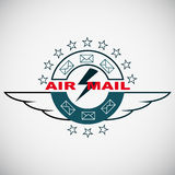 Vector stamp air mail Stock Photo