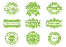 Vector stamp badge label for marketing selling organic, natural, fresh made, chemical free, local products. This vector stamp badge label is perfect suitable for vector illustration