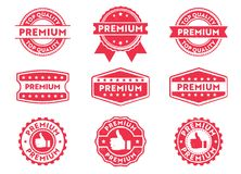 Vector stamp badge label for product mark, premium, top quality tag, high quality product. This vector stamp badge label is perfect suitable for product mark Stock Photos