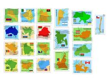 Vector stamp collection Royalty Free Stock Photo