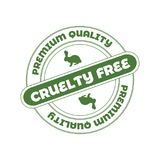 Vector Stamp: Cruelty Free, Not Tested on Animals Sign. stock photography