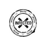 Vector stamp, infected Stock Images