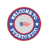 Vector Stamp for Original logo with text Puerto Rico and Tying in the middle with nation Flag stock photos