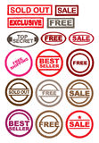 Vector stamp set Stock Photos