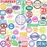 Vector stamps Stock Photos