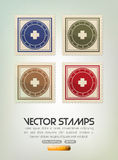 Vector stamps. Four vector stamps set on white background eps 10 Royalty Free Stock Photo