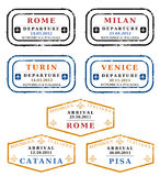 Vector stamps - Italy stock illustration