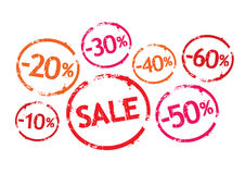 Vector stamps for sale Stock Photos