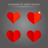 Vector standard heart shape pattern set Stock Image