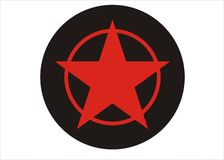 Vector star. A red vector star for background or button Stock Images