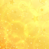 Vector Star abstract background design. Star shape sparkle effect on gold backdrop template stock illustration