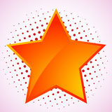 Vector star, abstract design element Stock Image