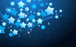 Vector star background design Stock Image